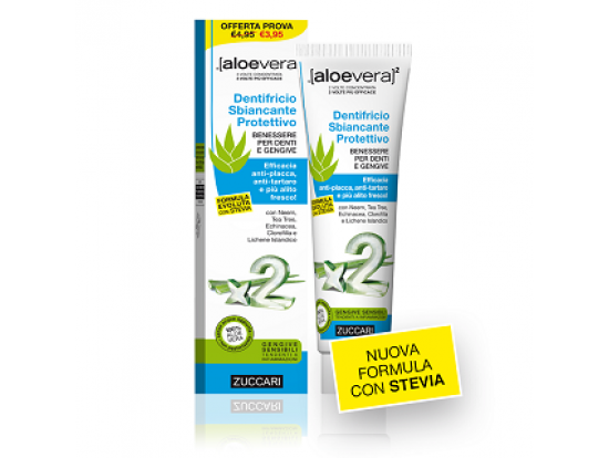 Aloevera2 Dentifricio Sbiancante Protettivo